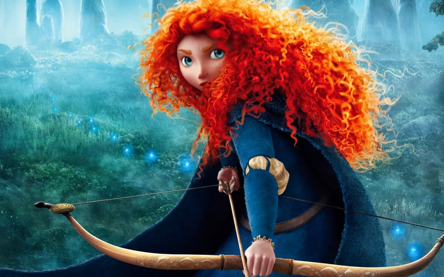 princess merida curly hair